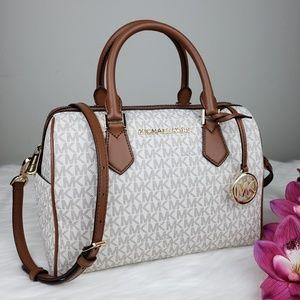 🌺NWT Michael Kors LG Bedford Satchel Bag Vanilla